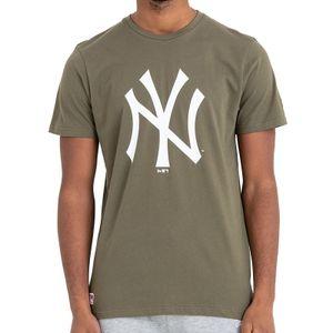 New Era - MLB New York Yankees Team Logo T-Shirt - Olivgrün : S Olivgrün