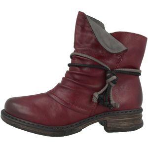Rieker Z9961-35 Damen Schuhe Stiefeletten Ankle Boots Warmfutter, Größe:39 EU, Farbe:Rot