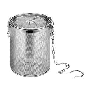 Edelstahl Tassensieb Kannensieb Gewürzei Teeei Kräutersieb Teefilter Kugel Silber Modern Teekugelsieb 0,7 l