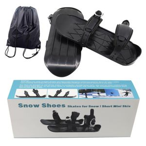 Tragbare Skischuhe Mini Ski Skates Mini Snowboard Schuhe Outdoor Sports Verschleißfeste Skischuhe  (Typ 2)