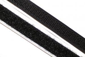 dalipo, Klettband selbstklebend, 10mm, komplett - Farbe: schwarz