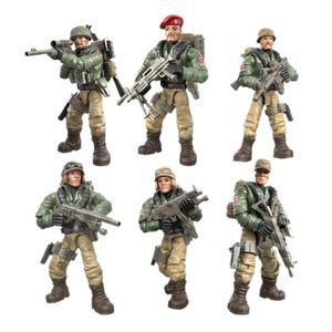 1/35 Special Forces Soldaten Ziegel Figuren Pistolen Armee Waffen Zubehör SWAT Baustein Ziegel Kinder Spielzeug B.