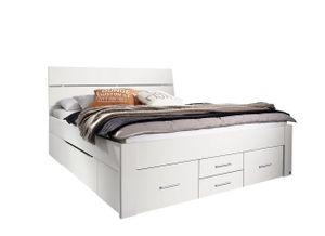 Jugendbett Karlotta 160*200 cm weiß inklusive Schubkästen Jugendliege Bettliege Bettgestell Jugendzimmer Kinderzimmer Schlafzimmer
