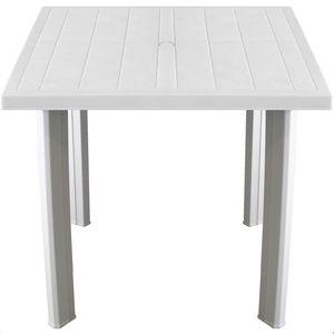 Gartentisch Kunststoff FIOCCO 80x75cm - Weiss