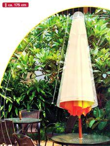 SONNENSCHIRMHÜLLE 175cm Schutzhülle Sonnenschirm Schirm Hülle Abdeckhaube Abdeckung 24 (Grau)