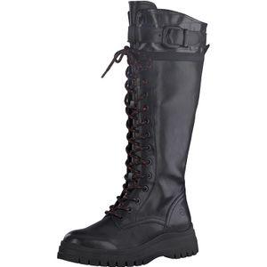 Tamaris Damen Stiefel Schnürstiefel Langschaft 1-25620-25, Größe:41 EU, Farbe:Schwarz