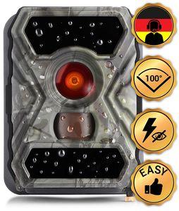 SECACAM HomeVista - 100° Weitwinkel, Professionell - Outdoor Überwachungskamera Wildkamera – Full HD Tag- / Nachtsicht /5 MP / 0,4 Sekunden Auslösezeit / Bewegungsmelder, kabellos