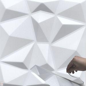 3D Wandpaneele Selbstklebend Deckenpaneele Platten Paneele Diamant Polystyrol Ohne Befestigungskleber! (0,25qm)