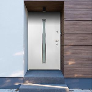 Haustür Tür Zimmertür   Aluminium Weiß 100x200 cm - 46811