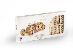 UGEARS Grand Prix Car Kit aus Holz Bausatz Auto Rennauto Nostalgisch