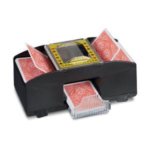 relaxdays Kartenmischmaschine 2 Decks