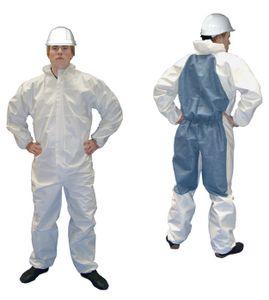 3 x 3S Schutzanzug Coverall Ganzkörperanzug Einweg-Anzug Overall Schutz-Anzug, Größe:XL