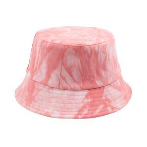 Bucket Hat Tie Dye Doppelseitiger Sonnenhut Faltbare, sonnengeschuetzte Fischerkappen fuer Wanderungen im Freien Strandurlaub