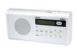 XORO Tragbares DAB+ Radio DAB100 , Digital, FM, Automatischer Suchlauf, LCD, 3,5mm: Farbe: Weiß