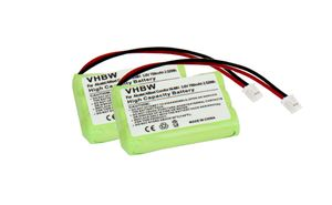 vhbw 2x Ni-MH Akku 700mAh (3.6V) kompatibel mit Babyphone Motorola MBP30 Ersatz für TFL3X44AAA650-CD77-01B, 525734-001
