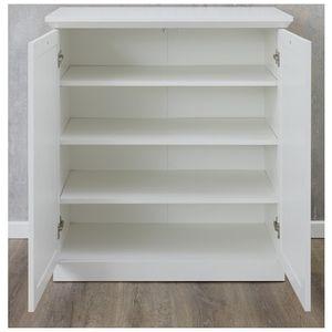 Kommode Wohnzimmerschrank Mehrzweckschrank Anrichte Sideboard Weiß Nachbildung 81 cm