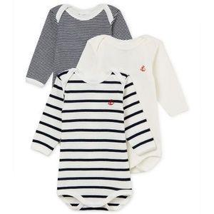 Petit Bateau Uni Body-langärmlig in der Farbe Weiß - Größe 74