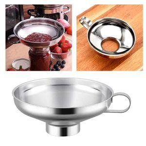Mason jar edelstahl küche dosen trichter für breites und reguläres glas S. Silber Einmachtrichter