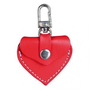 Adressanhänger Herzform Leder TRIXIE 5,5x5cmrot