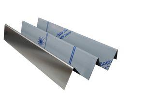 3x Aromaschiene aus Edelstahl für Weber SPIRIT 200 210 - 387 x 90 mm ab 2013