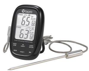 TEPRO-Dual-Sensor-Grillthermometer-für Kern- und Garraumtemperatur-schwarz-8346