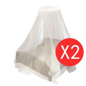 vidaXL Moskitonetz 2 Stk. Rund 56x325x230 cm