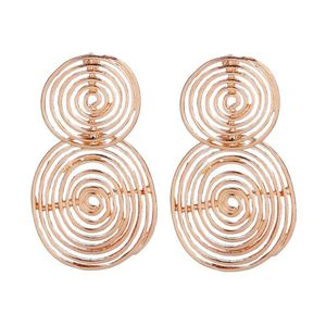 Mllaid Übertriebener Metallkreis-Ohrring Persönlichkeit Helix-Ohrringe
