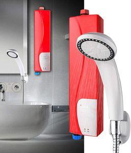 Mini Elektrisch Durchlauferhitzer 3KW Sofortige Dusche Badzubehör Warmwasserspeicher mit Duschset Bad