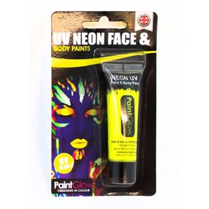 Gesichtsfarbe Körperfarbe Schminke Leuchtend UV Neon Gelb Karneval