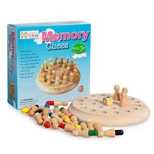Intelligentes Spielzeug für Kinder Buntes Gedächtnis Schach Holzgedächtnis Matchstick Schachspiel Gedächtnis Entwicklung der Schachfamilie Intellektuelles Spielzeug