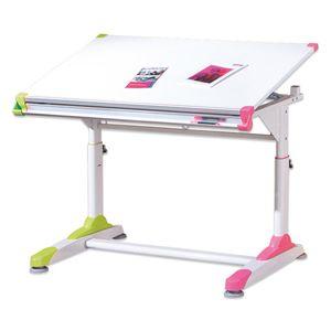 Ergonomischer Kinderschreibtisch Schüler Schreibtisch 2 Colorido weiß pink grün höhenverstellbar neigbar