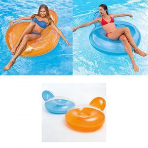 Intex Pillow-Back Lounge - Aufblasbarer Schwimmsessel - 137 x 122 cm unsortiert blau / orange