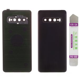 Akkudeckel für Samsung Galaxy S10 SM-G973F mit Kamera Linse Backcover Akkufachdeckel Rückschale Rückseite Batterie Deckel Black