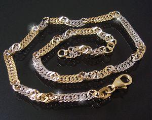 Fußkette 2,9mm Singapur 925 Sterling Silber gold 23-25cm lang 12429-25