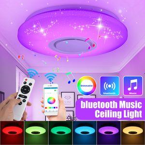 Dimmbare LED RGBW Deckenleuchte bluetooth Music Lamp APP Fernbedienung