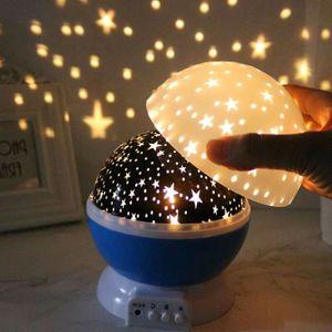 LED Sternenlicht Nachtlampe Nachtlicht Einschlafhilfe Baby Lampe Schlummerlicht 360° Rotierend Sternenhimmel für Kinder Kinderzimmer