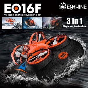 EACHINE E016F Boot Drohne Ferngesteuertes Boot Racing Hovercraft Abnehmbar Amphibious Vehicle Spielzeug Mini Drohne für Kinder RC Multifunktional Boot Geschenk - 1x Batterien