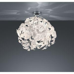 R60461001 Deckenleuchte Leavy chrom, weiß 1x E27 Höhe ca. 58 cm Durchm. ca. 38 cm