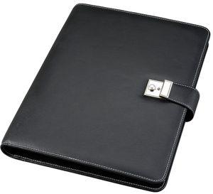 Alassio Dokumentenmappe DIN A4 aus Nappa Leder schwarz