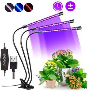 Pflanzenlampe, 60 LED Vollspektrum Grow Lampe Pflanzenlichtmit 3 Timer für Garten Zimmerpflanzen