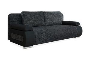 Mirjan24 Schlafsofa Emma Sofa mit Bettkasten und Schlaffunktion Polstersofa Couch vom Hersteller (Alova 04 + Lawa 06)