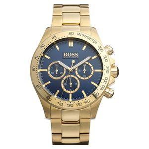 Hugo Boss Herrenuhr HB 1513340 HB1513340 Armbanduhr goldfarben Edelstahl Chronograph Uhr