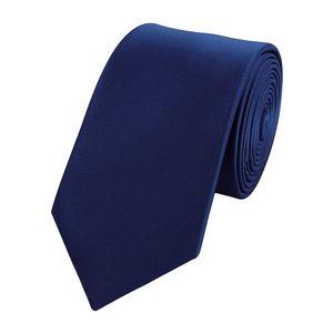 Schlips Krawatte Krawatten Binder 6cm dunkelblau uni Fabio Farini