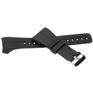 vhbw Ersatz Armband kompatibel mit Polar M400, M430 Fitnessuhr, Smartwatch - 14,5 + 8,9 cm Silikon schwarz