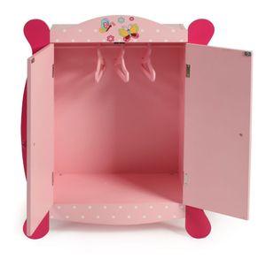 Bayer Chic 2000 Puppen-Kleiderschrank Dessin Papilio pink 519 90