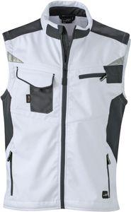 Weste FaS50845 Workwear Softshell Weste atmungsaktiv Herren , Größe:3XL, Farbe:white/carbon