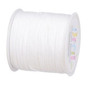 98 Yards Macrame Cord Geflochtene Schnur Perlenfaden 0,8 Mm Für Schicke Armbänder Farbe Weiß