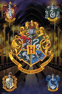 Harry Potter Poster Hogwarts Häuserwappen + Ü-Poster