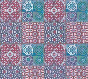 A.S. Création Fliesentapete Il Decoro Vliestapete rot blau grün 10,05 m x 0,53 m