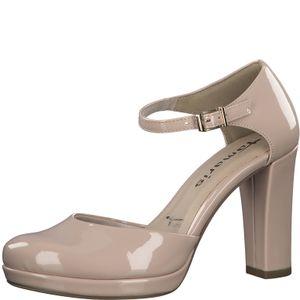 Tamaris Damen Pumps Plateau High Heel 1-24401-35, Größe:41 EU, Farbe:Beige
